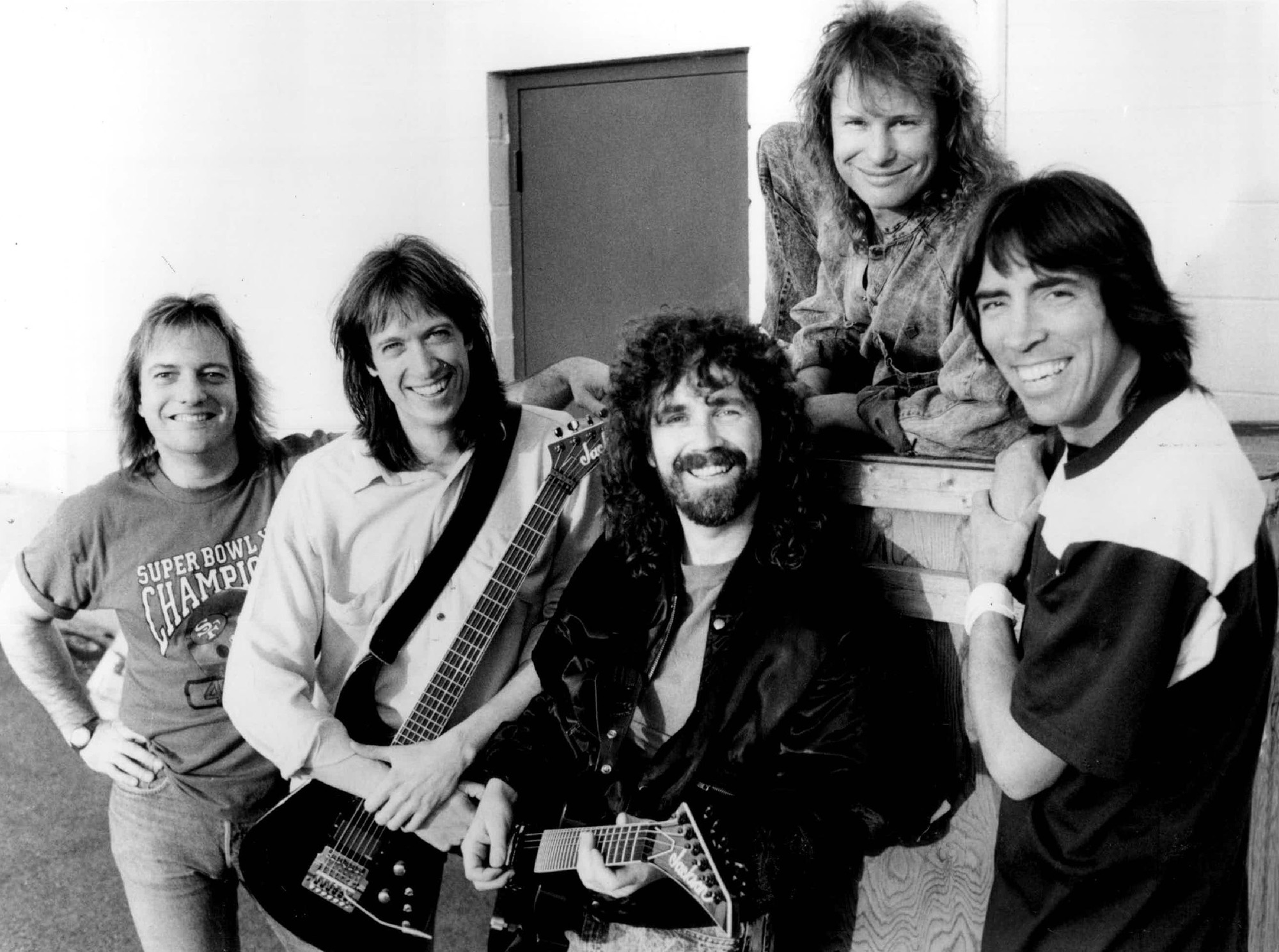 Doug Huffman, Gary Phil, Brad Delp, David Sikes, Tom Scholz.