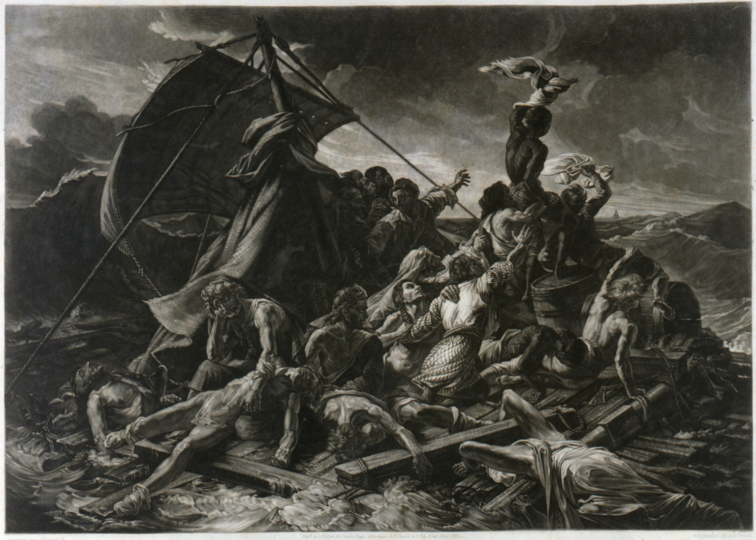 a brief history of theodore gericaults raft of the medusa painting The raft of the medusa—a major work in french 19th-century painting—is generally regarded as an icon of romanticism it depicts an event whose human and political aspects greatly interested géricault: the wreck of a french frigate off the coast of senegal in 1816, with over 150 soldiers on board.