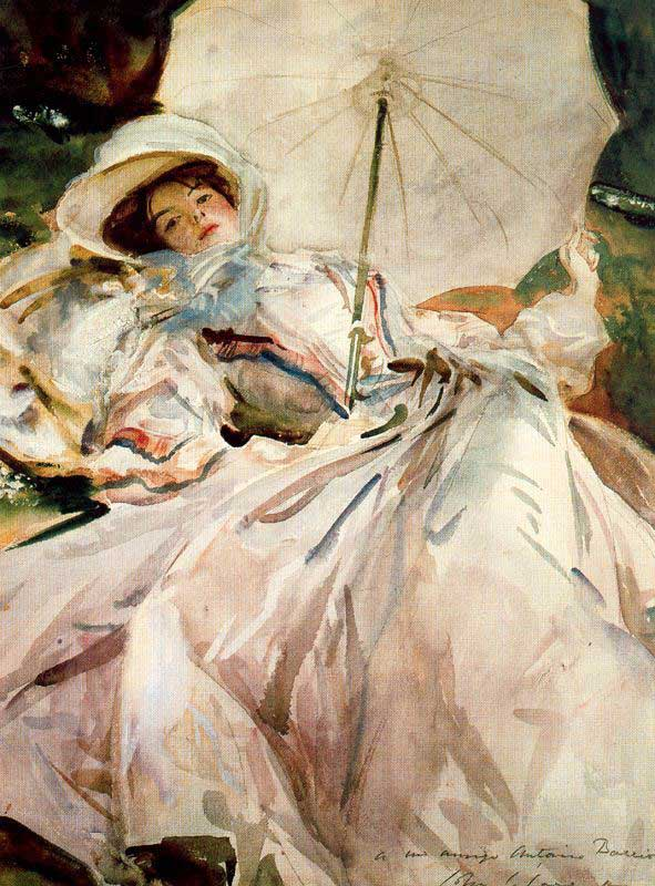 """Lady with Parasol""-- John Singer Sargent"