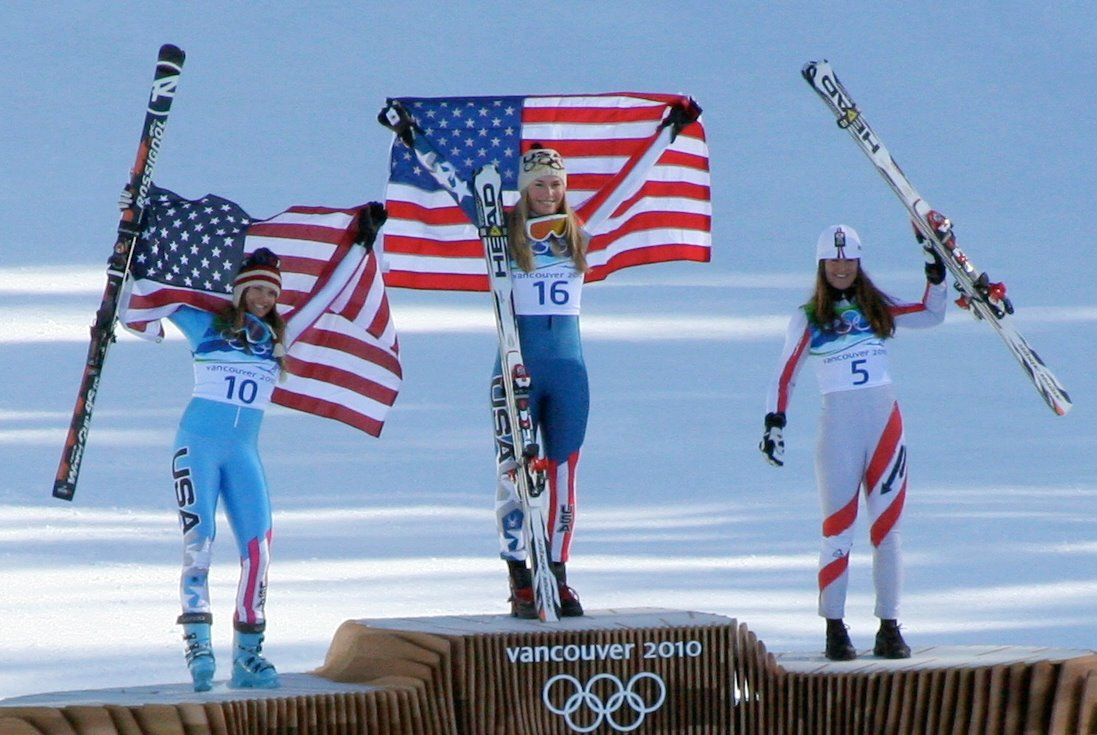 2010_Winter_Olympic_-_Womens_downhill_medals