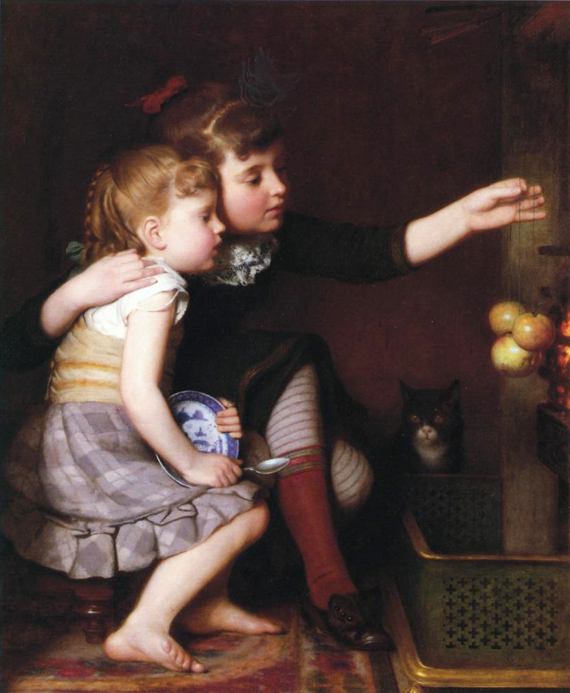 Seymour Joseph Guy (American artist, 1824-1910) One for Mommy, One for Me
