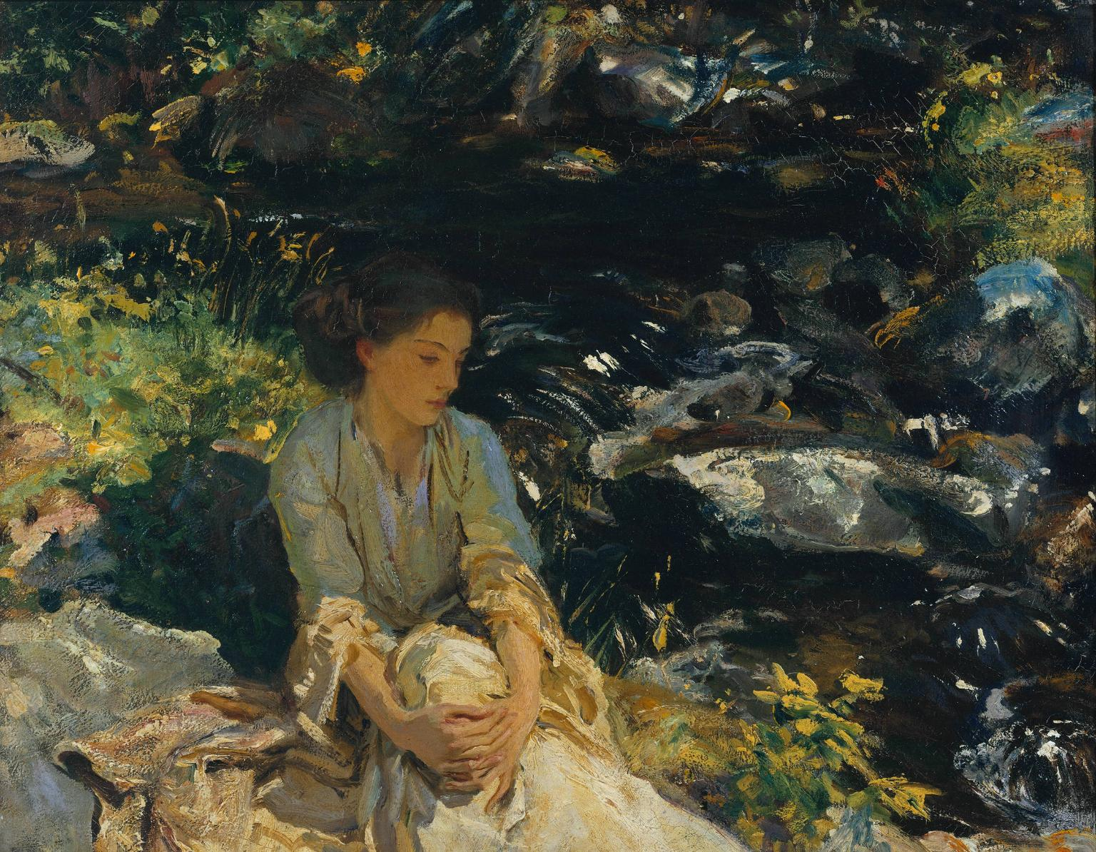 The Black Brook c.1908 by John Singer Sargent 1856-1925