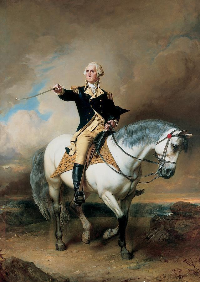 portrait-of-george-washington-taking-the-salute-at-trenton-john-faed